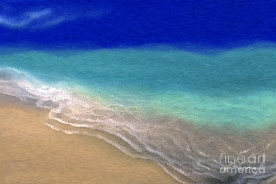 Art Deco Painting - Beach Scene 7. Abstract Ocean Art by Mark Lawrence