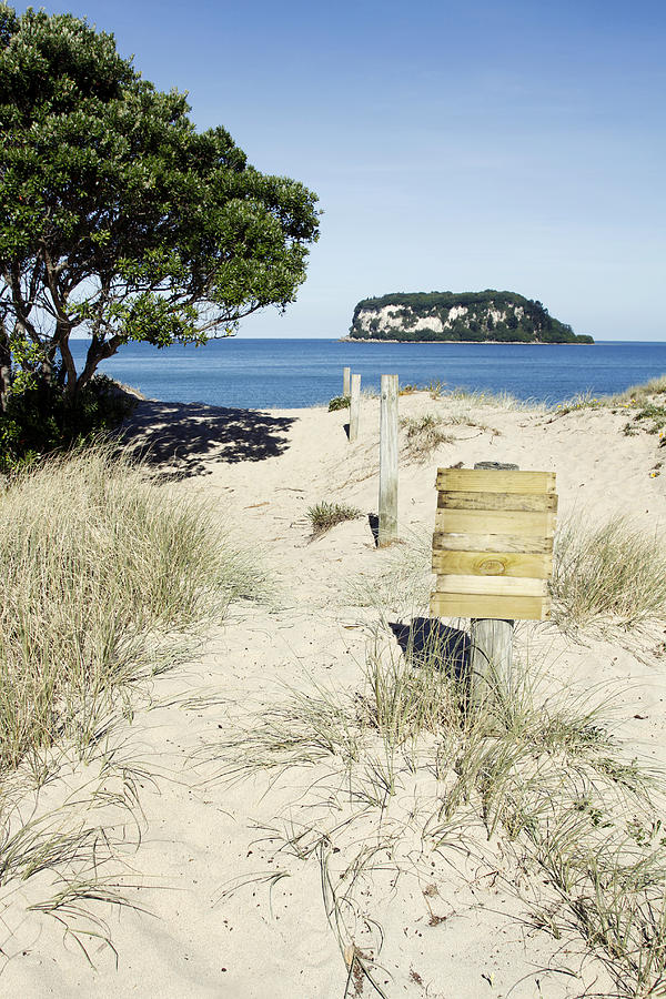 Beach Photograph - Beach Sign by Les Cunliffe