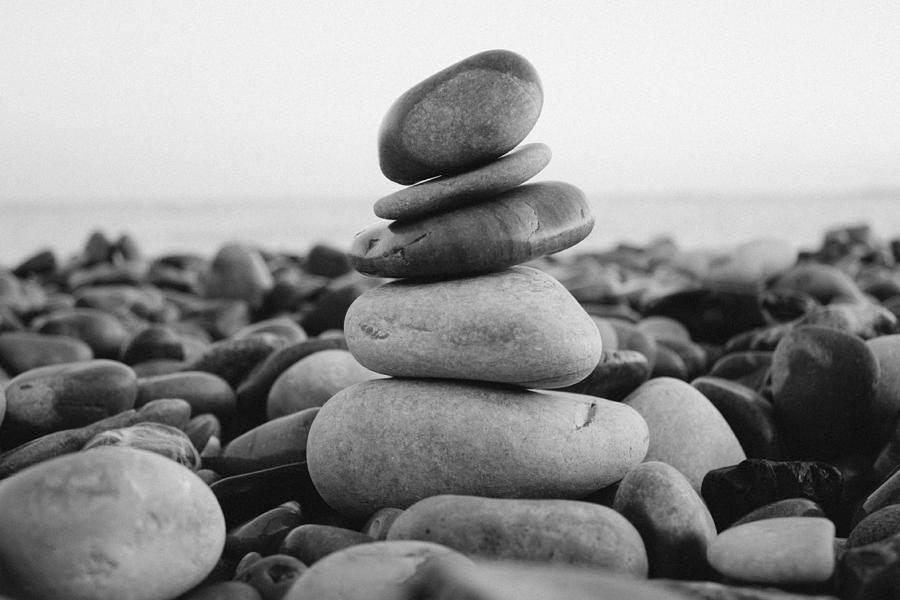 2013 Photograph - Beach Stones - 3 by Jane M
