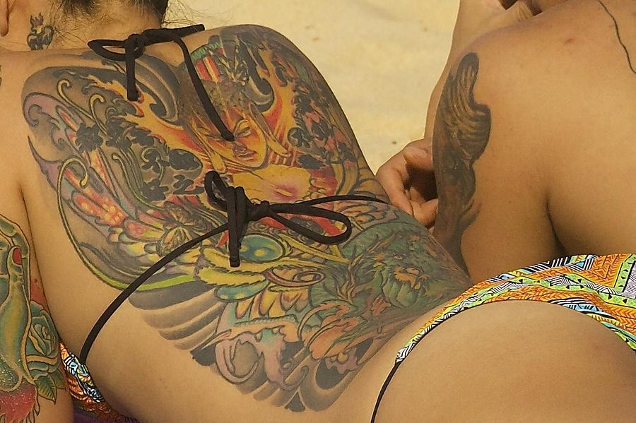 Beach Tattoo Photograph  - Beach Tattoo Fine Art Print