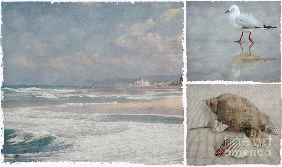 Beach Photograph - Beach Triptych 1 by Linda Lees