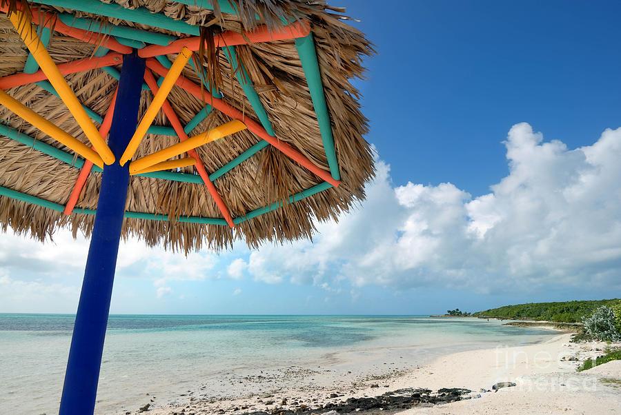 Beach Umbrella At Coco Cay Photograph