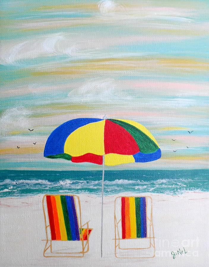 Beach Vacation Painting  - Beach Vacation Fine Art Print
