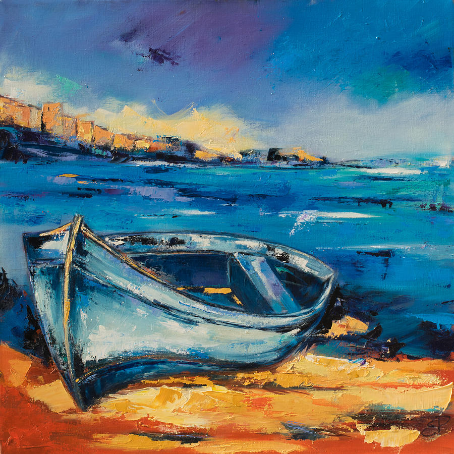 Beached Blue Painting  - Beached Blue Fine Art Print