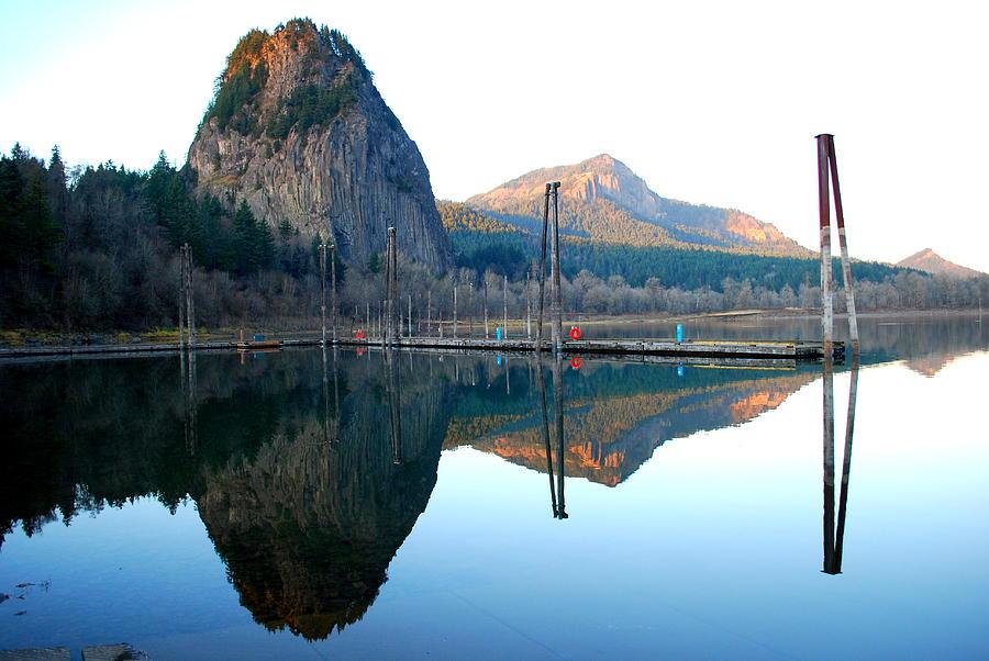 Beacon Rock Reflecions Photograph