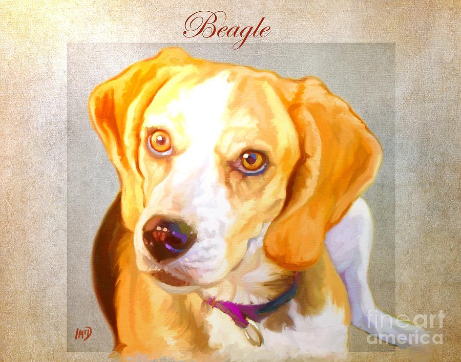 Beagle Art Painting