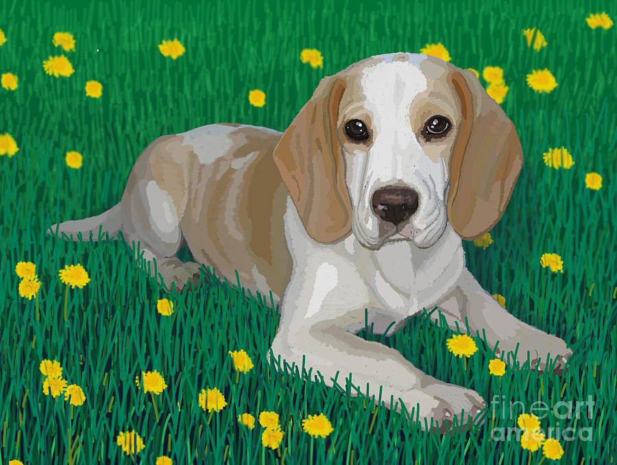 Beagle Bliss Painting