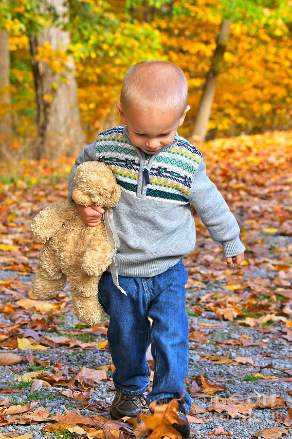 Photograph - Bear And Boy by Jay Nodianos