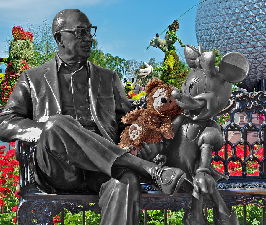 Bear And His Mentors Walt Disney World 03 Photograph  - Bear And His Mentors Walt Disney World 03 Fine Art Print