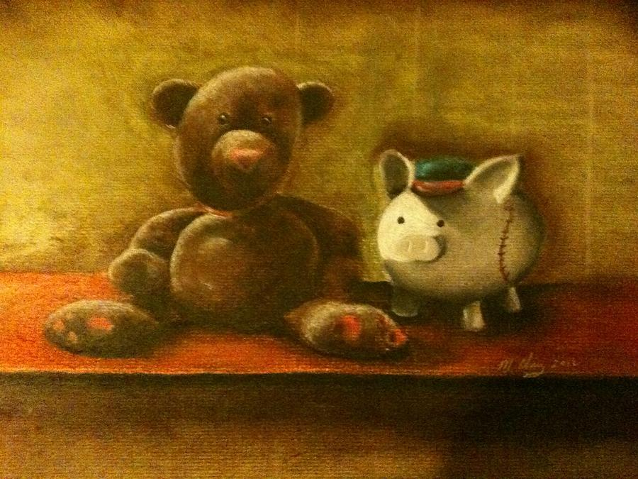 Bear And Piggy Painting