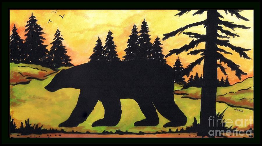 Bear Creek Silhouette Painting