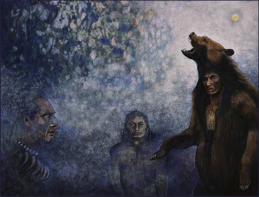 Bear Shaman Warriors Painting  - Bear Shaman Warriors Fine Art Print