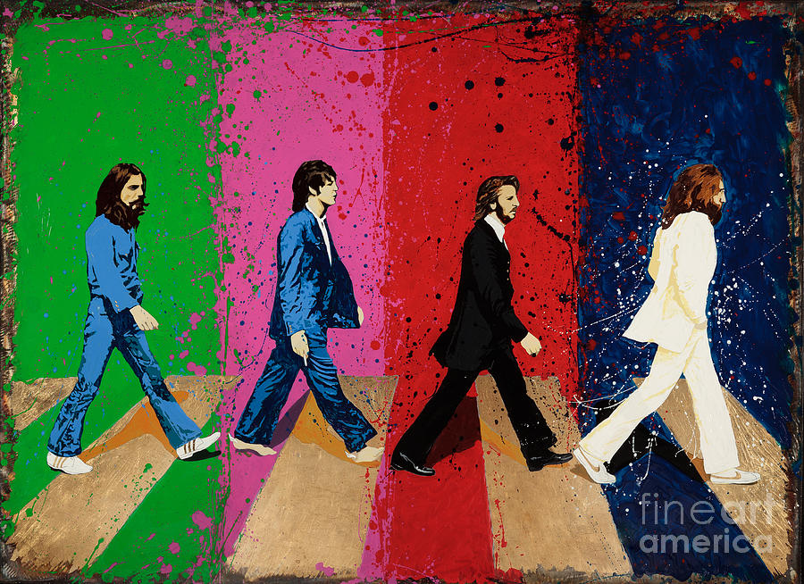 Beatles Crossing Painting