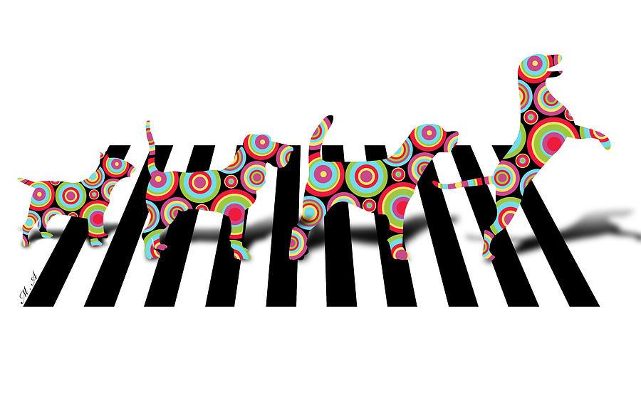 Kids Digital Art - Beatles Dogs by Mark Ashkenazi