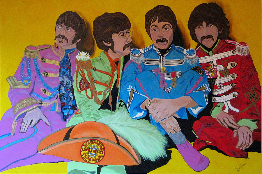 Beatles-lonely Hearts Club Band Painting