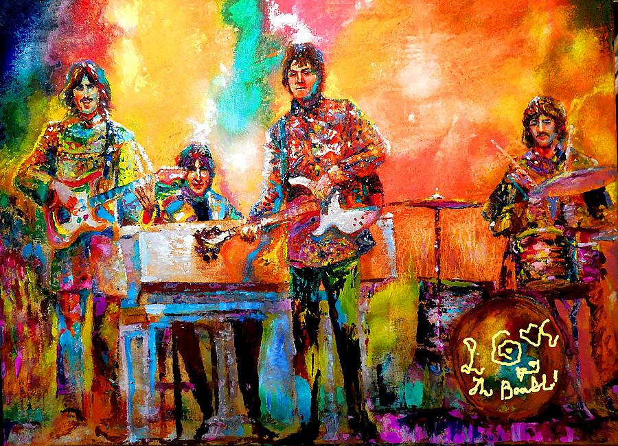 Beatles Magical Mystery Tour Painting By Leland Castro