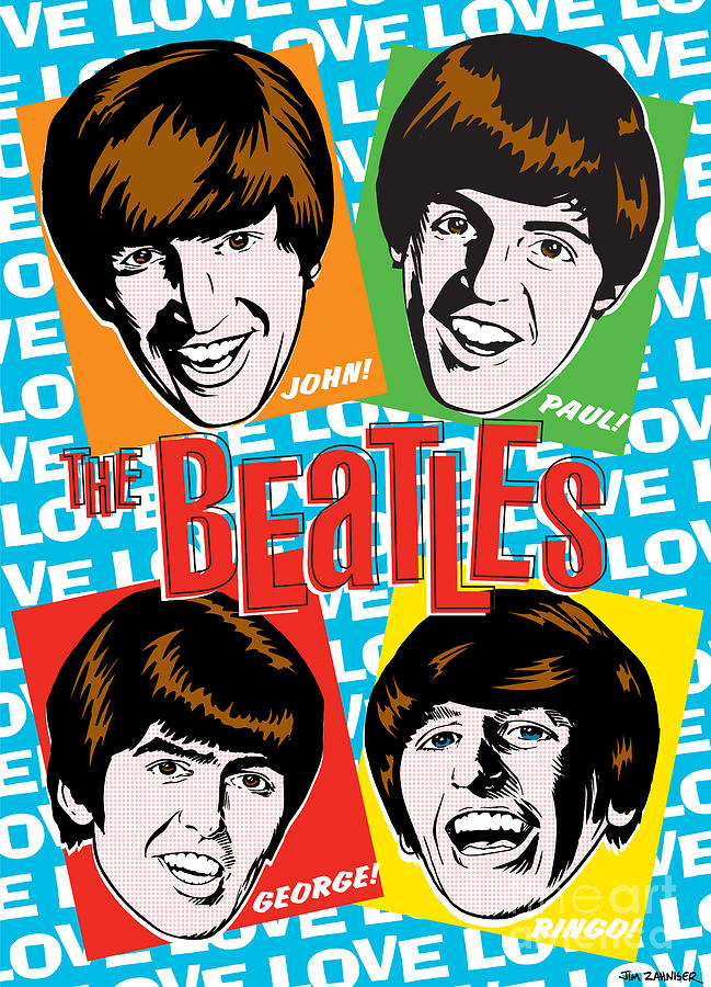 Beatles Pop Art Digital Art  - Beatles Pop Art Fine Art Print