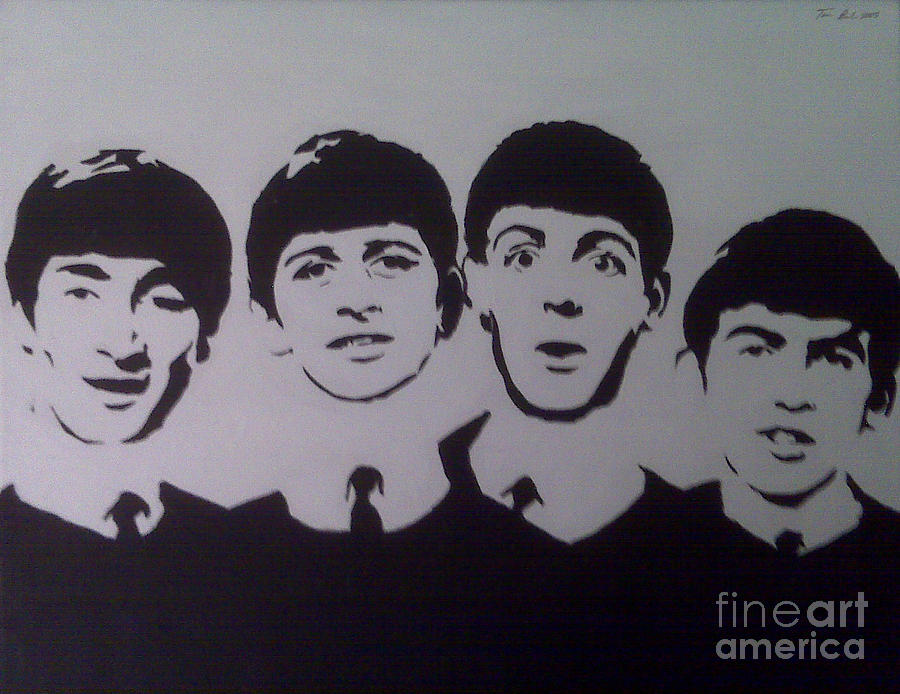 John Lennon Painting - Beatles by Tamir Barkan