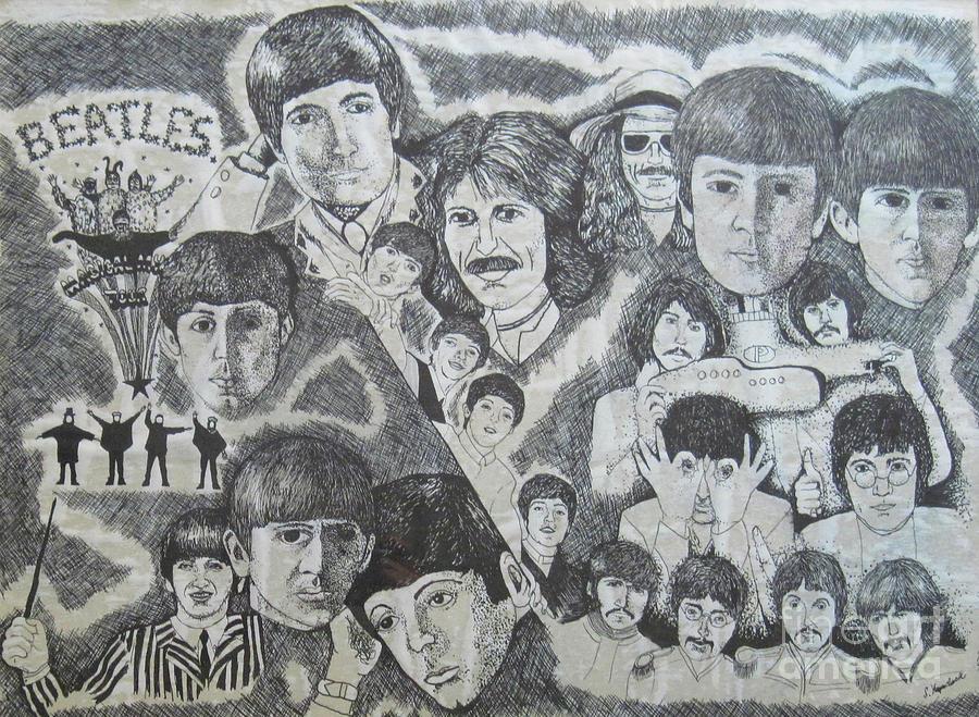 Beatles Tribute Drawing