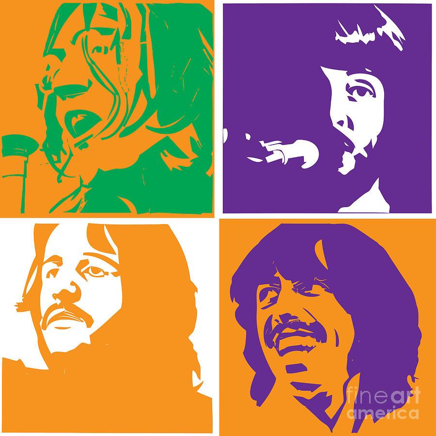 Artwork Digital Art - Beatles Vinil Cover Colors Project No.02 by Caio Caldas