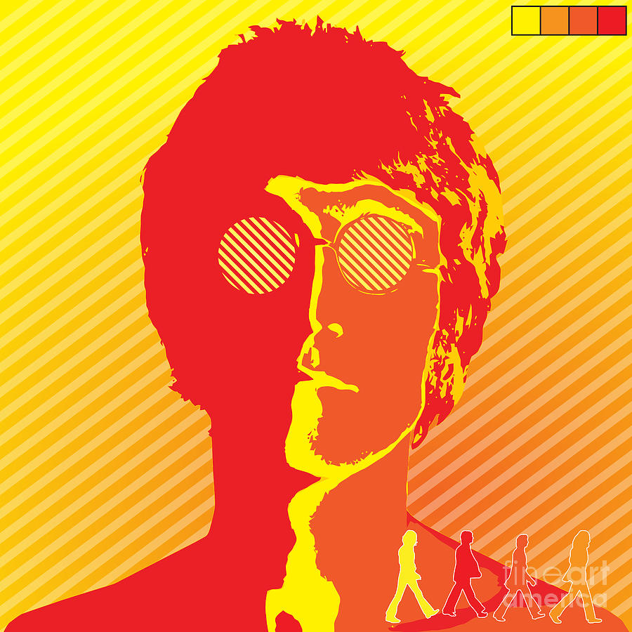 Beatles Vinil Cover Colors Project No.03 Digital Art  - Beatles Vinil Cover Colors Project No.03 Fine Art Print