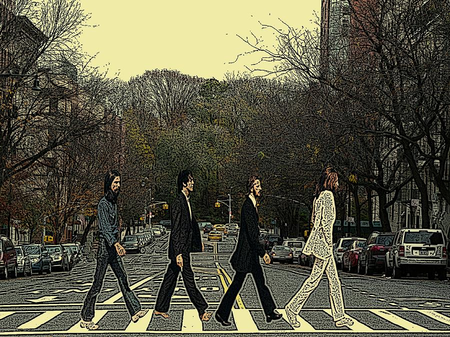 Beatles Walk New York Photograph