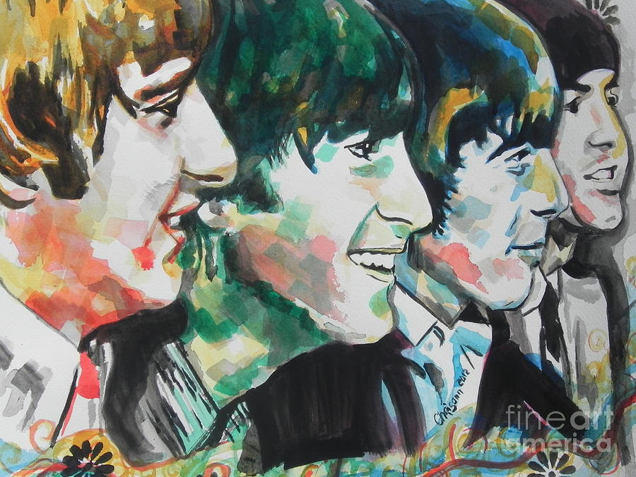 Beatles...up Close Painting  - Beatles...up Close Fine Art Print