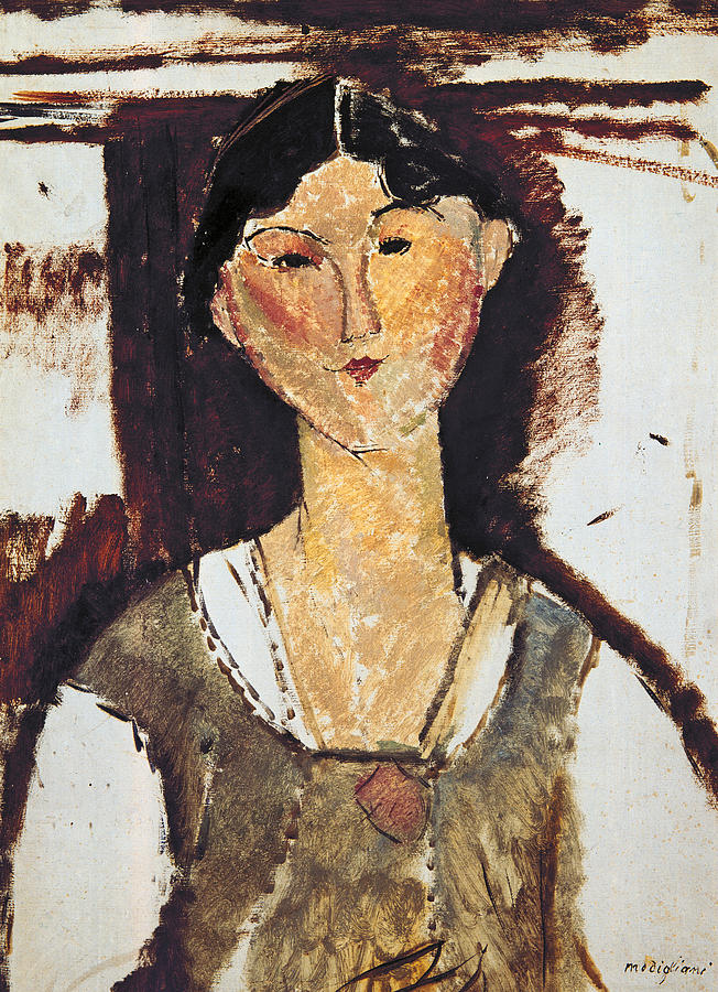 Modigliani Painting - Beatrice Hastings by Amedeo Modigliani