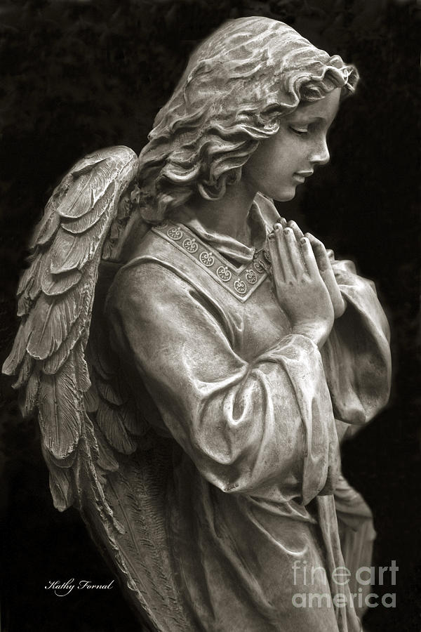 Beautiful Angel Praying Hands Christian Art Print Photograph