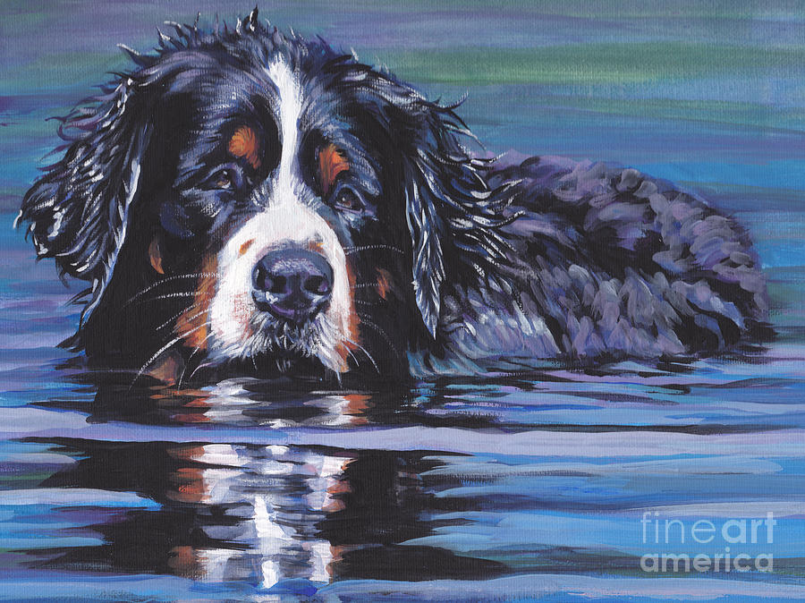 Beautiful Berner Painting  - Beautiful Berner Fine Art Print