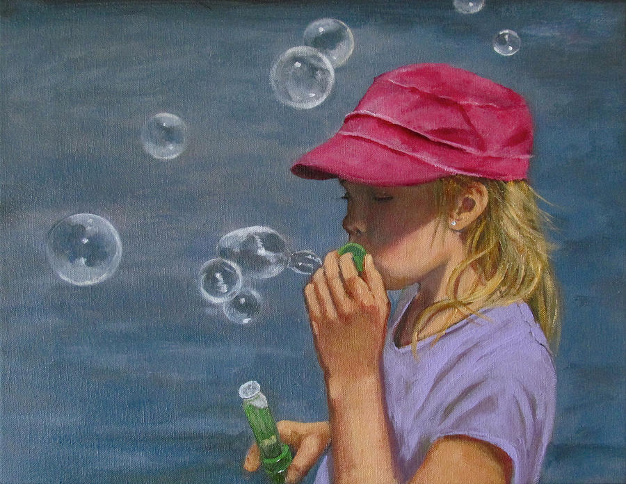 Beautiful Bubbles Painting  - Beautiful Bubbles Fine Art Print