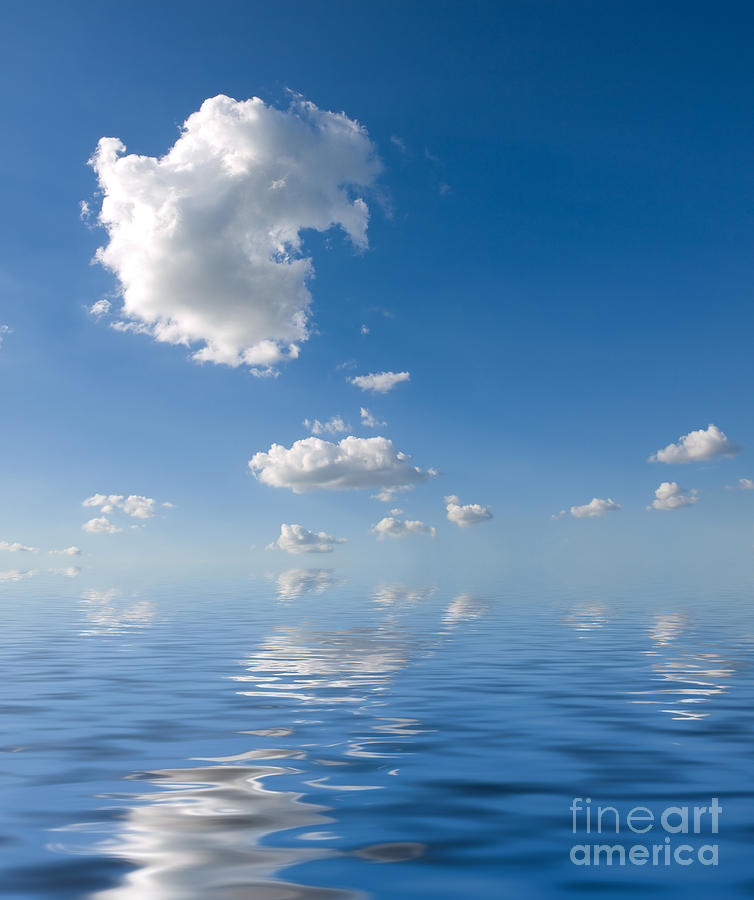 Beautiful Clouds And Sea Photograph  - Beautiful Clouds And Sea Fine Art Print