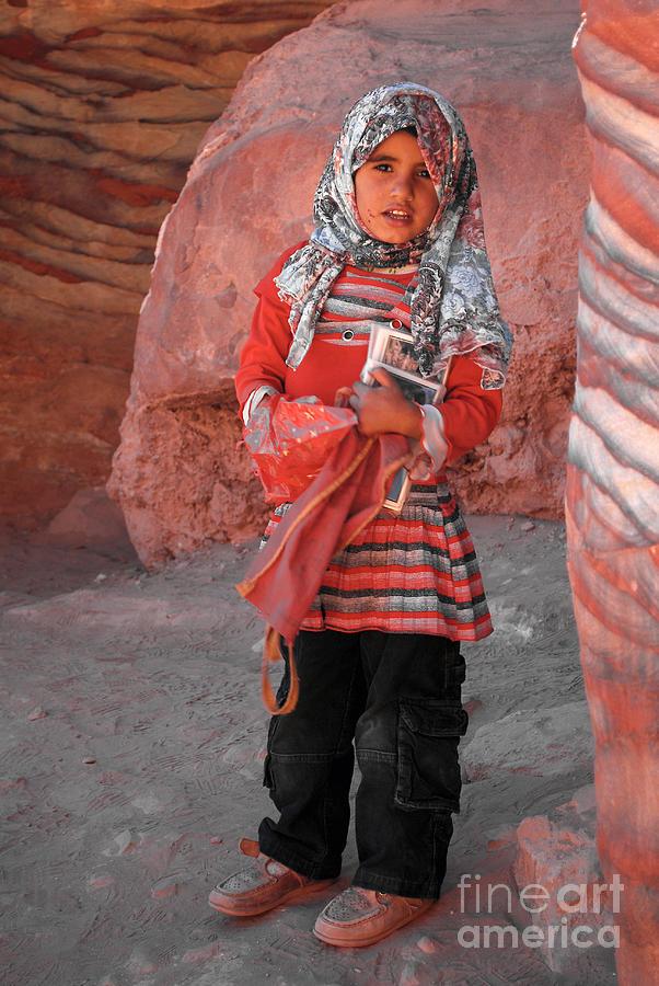 Girl Digital Art - Beautiful Girl At Petra Jordan by Eva Kaufman
