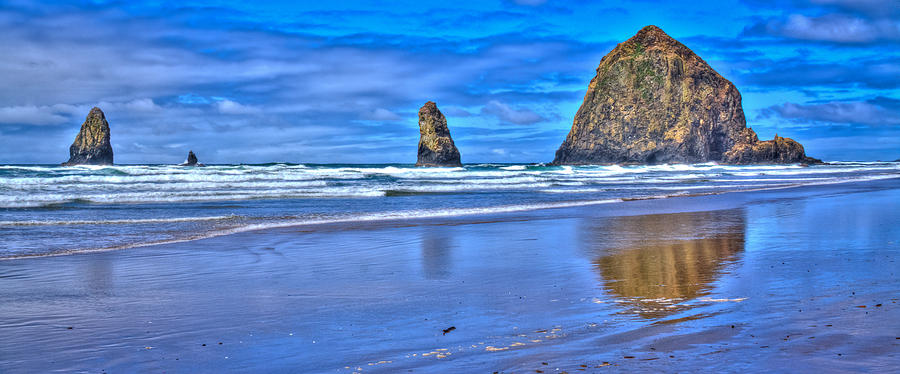 Beautiful Haystack Rock And The Needles Photograph  - Beautiful Haystack Rock And The Needles Fine Art Print