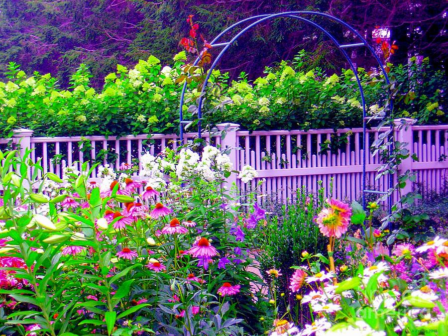 Beautiful Impressionistic Flower Garden Photograph  - Beautiful Impressionistic Flower Garden Fine Art Print