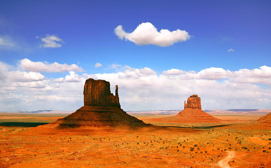 Beautiful Landscape Of  Monument Valley Arizona Pyrography