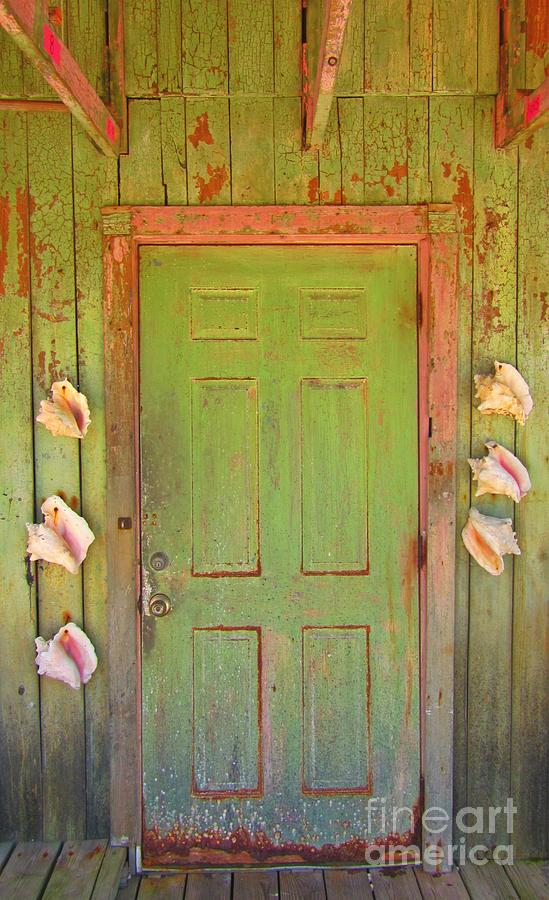 Beautiful Old Door With Seashells Photograph  - Beautiful Old Door With Seashells Fine Art Print