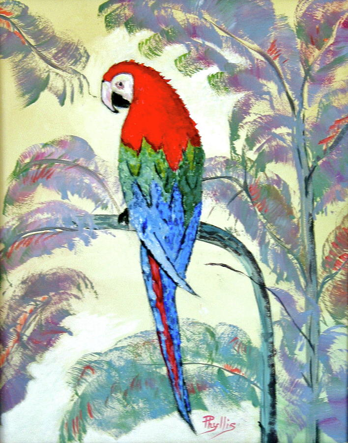 Beautiful Parrot For Someone Special Painting by Phyllis ...