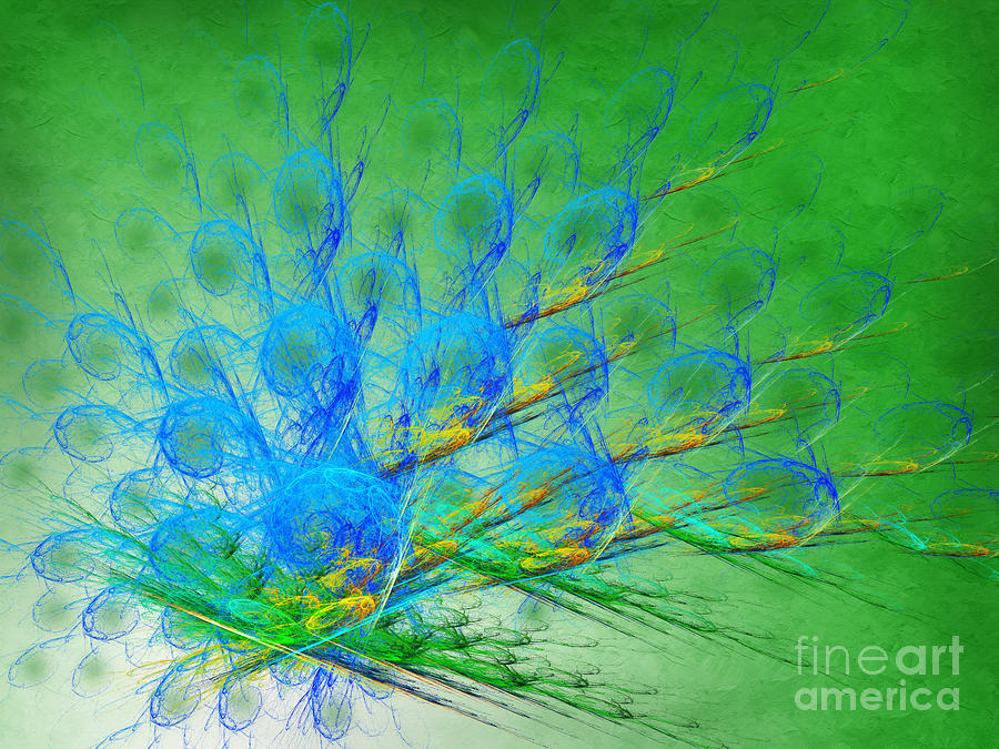 Beautiful Peacock Abstract 1 Digital Art