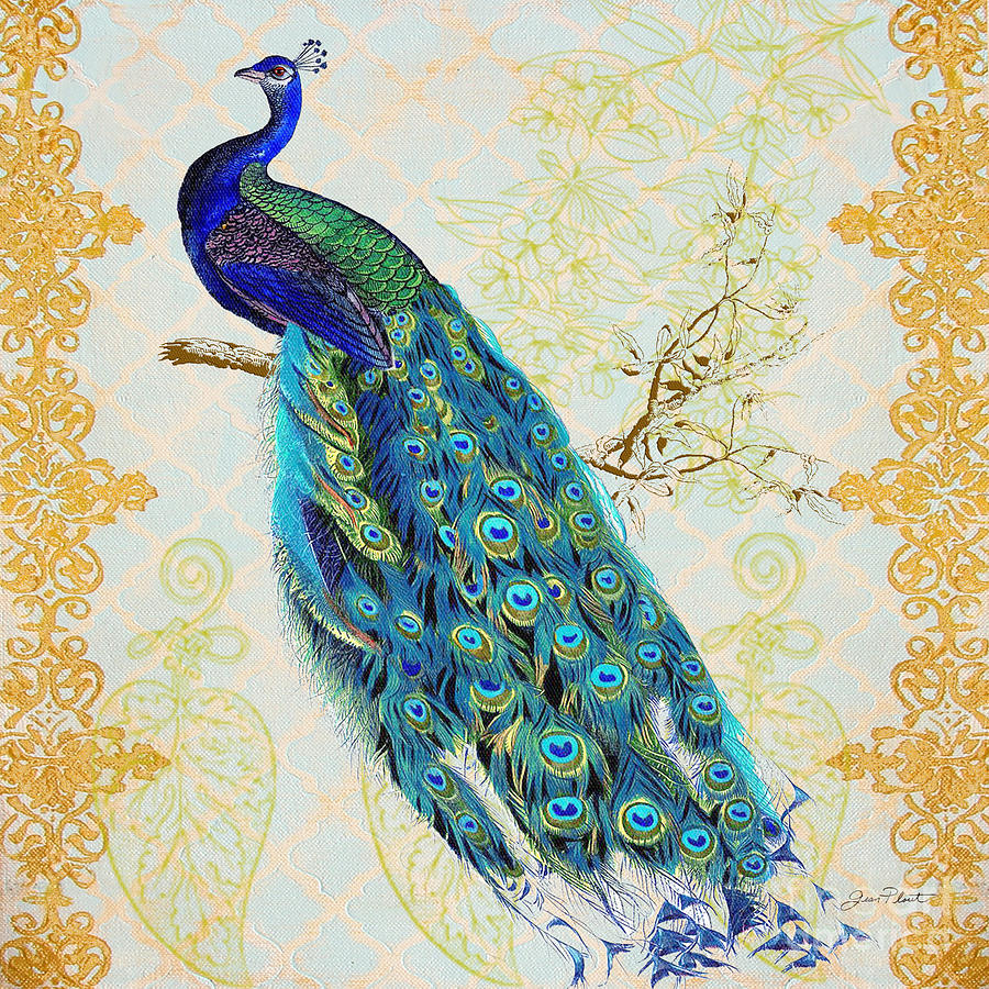 Beautiful Peacock-b is a painting by Jean Plout which was uploaded on ...