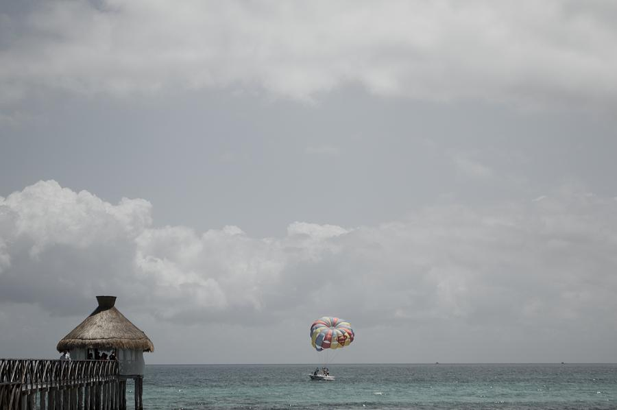 Beautiful Peak With Parasailing  Photograph