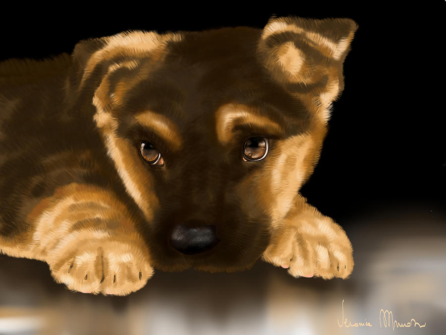Beautiful Puppy Painting