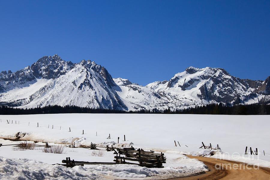 Beautiful Sawtooth Mountains Photograph