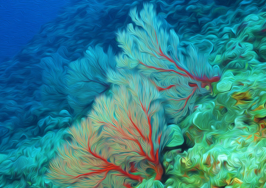 Beautiful Sea Fan Coral 1 Painting