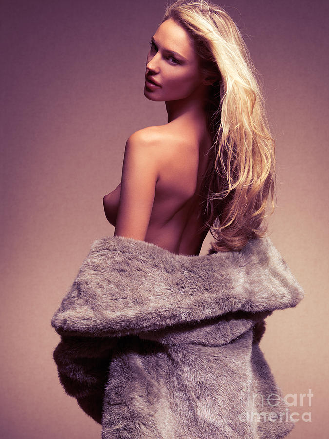 Coat naked fur