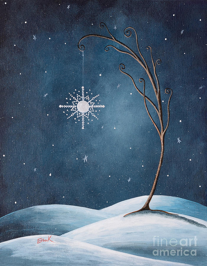 Winter Painting - Beautiful Winterland By Shawna Erback by Shawna Erback
