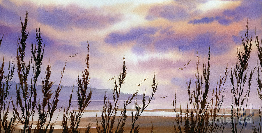 Landscape Fine Art Print Painting - Beautiful World by James Williamson