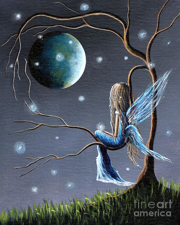 Beautiful World Of Fairies By Shawna Erback Painting  - Beautiful World Of Fairies By Shawna Erback Fine Art Print