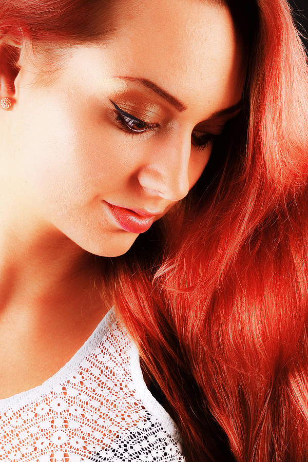 Beauty In Red Hair Photograph  - Beauty In Red Hair Fine Art Print