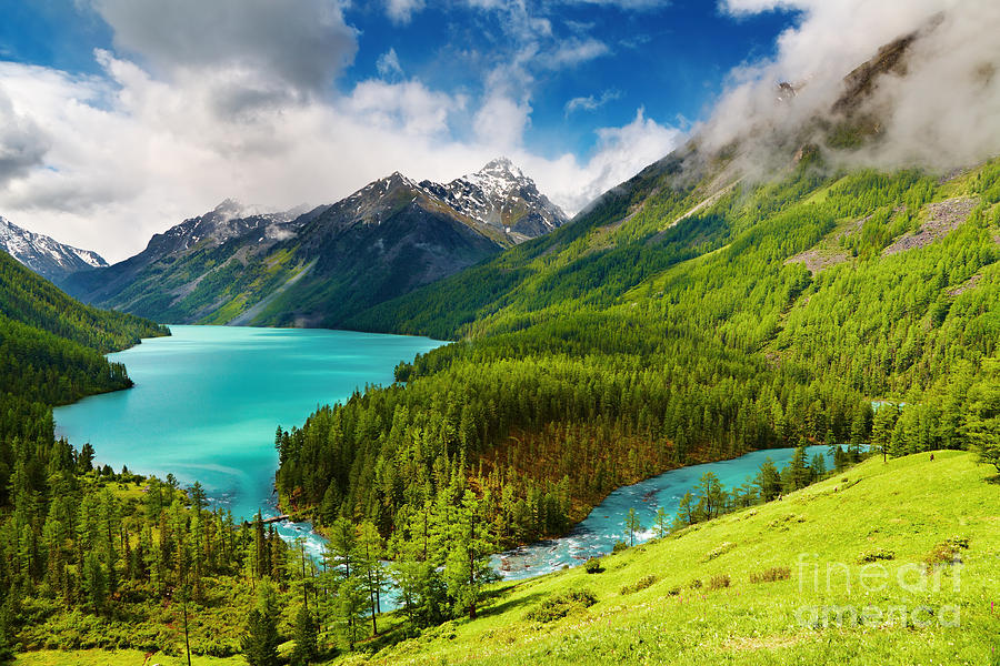 Beauty Mointain And Lake Photograph